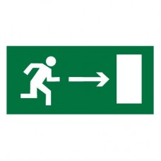E03 Направление к эвакуационному выходу направо (Пластик 150 х 300)