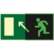 ФЭС E06 Направление к эвакуационному выходу  налево  вверх (Пленка 150 x 300)