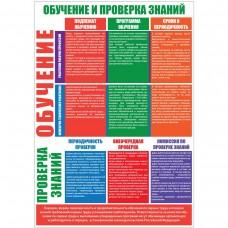 "Плакат ""Организация обучения по охране труда"""