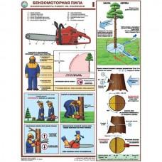 """Плакат """"Бензомоторная пила. Безопасность работ на лесосеке"""""""