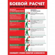 """Плакат """"Боевой расчет ДПД"""""""
