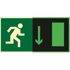 ФЭС E09 Указатель  двери  эвакуационного выхода (правосторонний ) (Пленка 150 x 300)