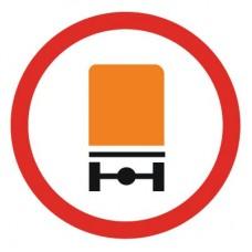 3.32 Движение транспортных средств с опасными грузами запрещено (D=700)