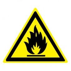 W01 Пожароопасно. Легковоспламеняющиеся вещества (Пластик 100 x 100)