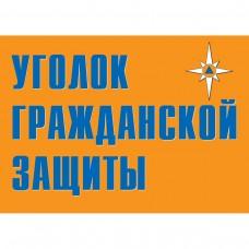 """Плакат """"Уголок гражданской защиты"""""""