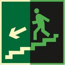 ФЭС E14 Направление к эвак. выходу по лестнице вниз (левосторонний) (Пленка 150 X 150)