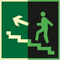 ФЭС E16 Направление к эвак. выходу по лестнице вверх (левосторонний) (пленка 250 Х 250)