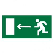 E04 Направление к эвакуационному выходу налево (Пластик 150 х 300)