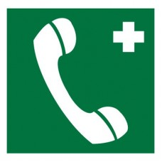 EC06 Телефон связи с медицинским пунктом (скорой медицинской помощью) (Пленка 200 х 200)
