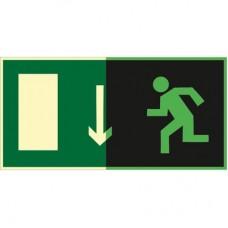 ФЭС E10 Указатель  двери  эвакуационного выхода (левосторонний) (Пленка 150 x 300)