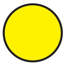 Осторожно! (Пленка 150 х 150) желтый круг