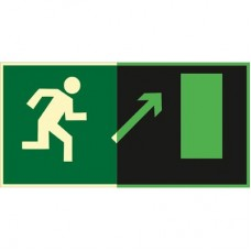 ФЭС E05 Направление к эвакуационному выходу  направо вверх (Пленка 150 x 300)