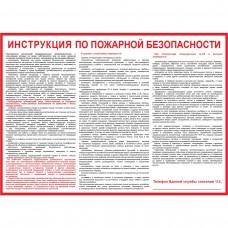 Инструкция по пожарной безопасности для общественных зданий (Пленка 500 х 700)