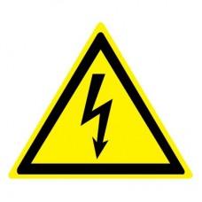W08 Опасность поражения электрическим током (Пластик 200 х 200)