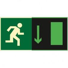 ФЭС E11 Направление к эвакуационному выходу прямо (Пленка 150 x 300)