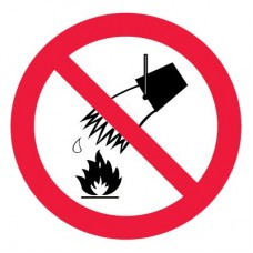 P04 Запрещается тушить водой (Пленка 200 х 200)