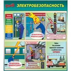 "Стенд ""Электробезопасность на железной дороге (Пластик 1000 x 0900)"""