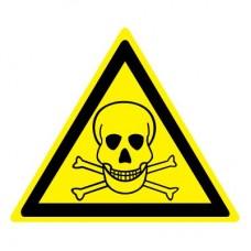 W03 Опасно. Ядовитые вещества (Пластик 100 x 100)